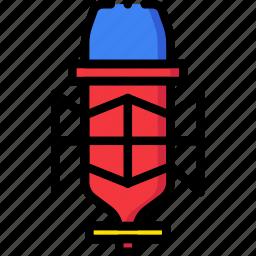 condenser, microphone, music, play, sound icon