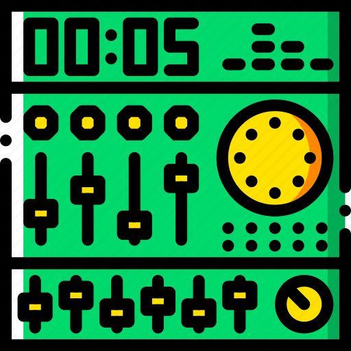 gear, mixing, music, play, sound icon