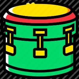 bass, drum, music, play, sound icon