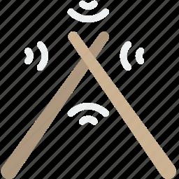 drum, instrument, music, sound, sticks icon