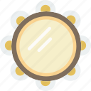 gypsy, instrument, music, sound, tambourine icon