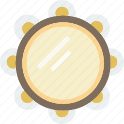 gypsy, instrument, music, sound, tambourine icon