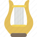 harp, instrument, music, orchestra, sound icon