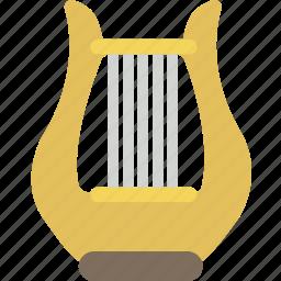 harp, instrument, music, orchestra, sound icon