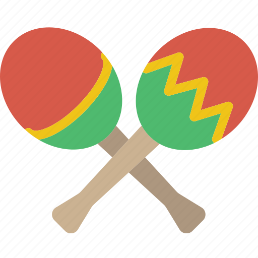 instrument, maracas, music, sound icon