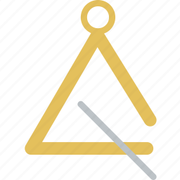instrument, music, sound, triangle icon