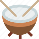 instrument, music, sound, timpani icon