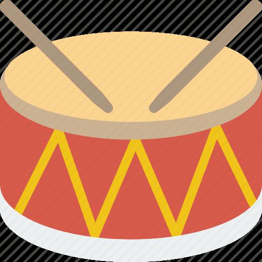circus, drum, instrument, music, sound icon