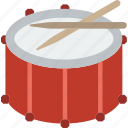 drum, fanfare, instrument, music, sound