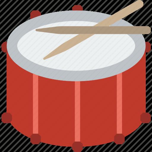 drum, fanfare, instrument, music, sound icon