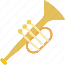 instrument, music, orchestra, sound, trumpet icon
