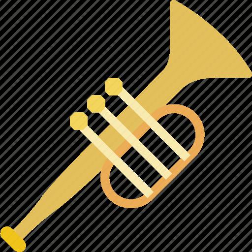 instrument, music, orchestra, sound, trumpet icon