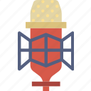 condenser, microphone, music, sound, studio, tune icon