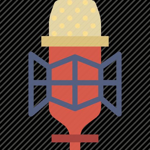 condenser, microphone, music, sound, studio, tune icon
