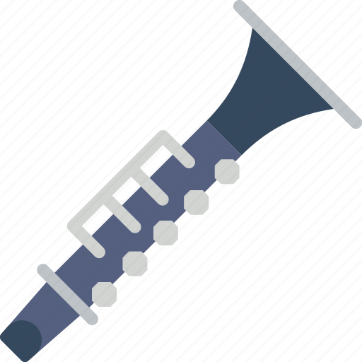 clarinet, instrument, music, orchestra, sound icon