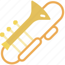 instrument, music, orchestra, sound, trombone icon