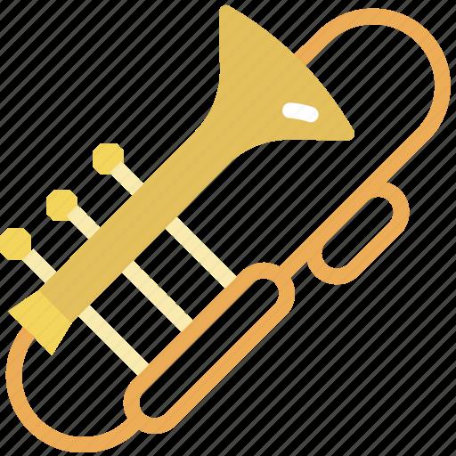 instrument, music, orchestra, sound, trombone icon