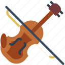 instrument, music, orchestra, sound, violin icon