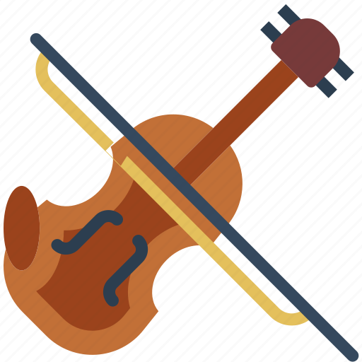 instrument, music, orchestra, sound, violin icon