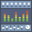 compose, electronic, equalizer, music, sound, tune icon
