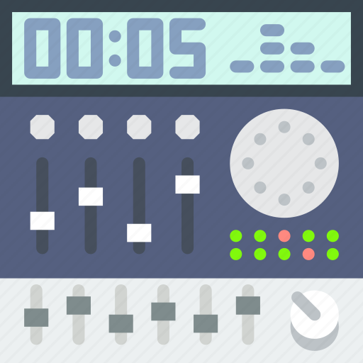 electronic, gear, mixing, music, sound, tune icon