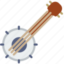 banjo, instrument, music, sound icon