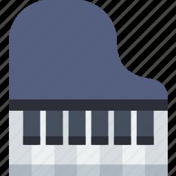instrument, music, piano, sound icon