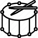 drum, fanfare, instrument, music, orchestra, sound, tune icon