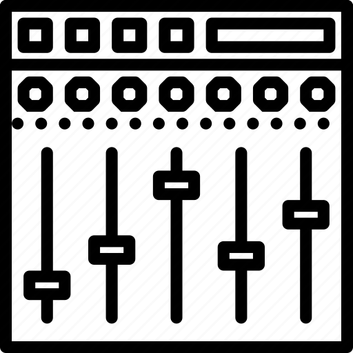 equalizer, instrument, music, sound, tune icon