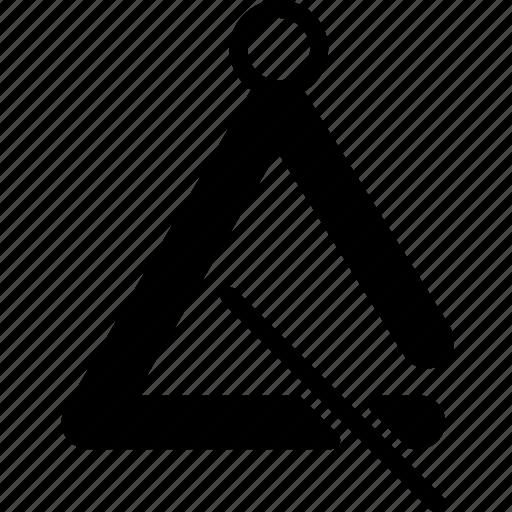 instrument, music, sound, triangle, tune icon