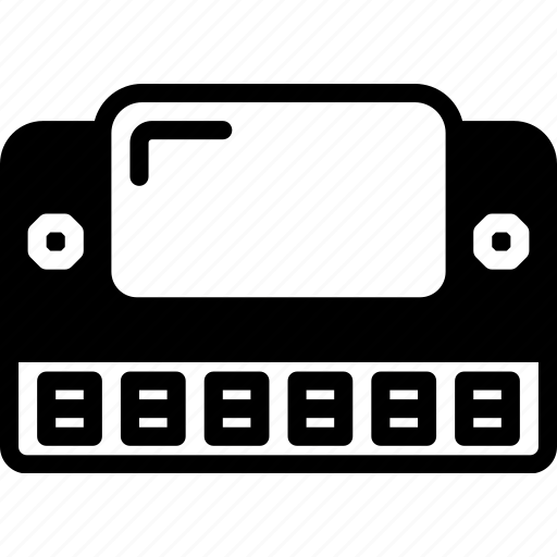 harmonica, instrument, music, sound, tune icon