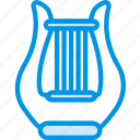 harp, instrument, music, orchestra, sound, tune icon