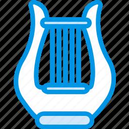harp, instrument, music, orchestra, sound, tune icon