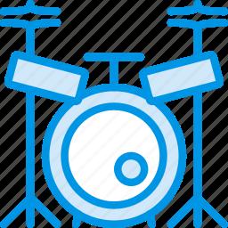 concert, drum, instrument, music, sound, tune icon