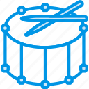 drum, fanfare, instrument, music, sound, tune icon