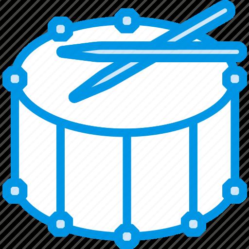 drum, fanfare, instrument, music, sound, tune icon