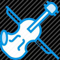 instrument, music, orchestra, sound, tune, violin icon