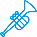 instrument, music, orchestra, sound, trumpet, tune icon