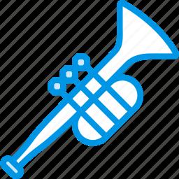 instrument, music, orchestra, sound, trumpet, tune icon