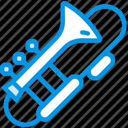 instrument, music, orchestra, sound, trombone, tune icon