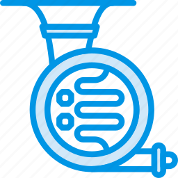 french, horn, instrument, music, orchestra, sound, tune icon