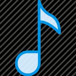 music, note, quaver, sound, tune icon