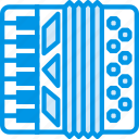 accordion, instrument, music, sound, tune icon