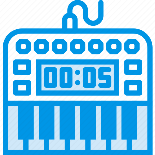 digital, instrument, music, piano, sound, tune icon