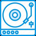 instrument, music, sound, tune, turntable icon