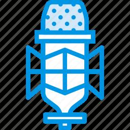 condenser, instrument, microphone, music, sound, tune, voice icon