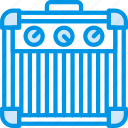 amplifier, guitar, instrument, music, sound, tune icon