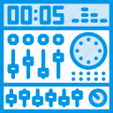 gear, instrument, mixing, music, sound, tune icon
