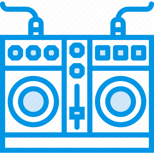 instrument, mixing, music, plates, sound, tune icon