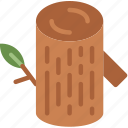 camping, log, outdoor, travel, wood icon